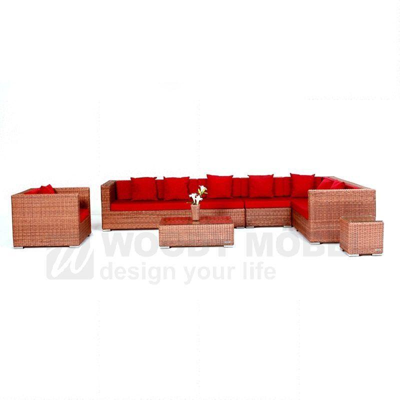 Gartenpolstergarnitur Rundfaser hellbraun Woody 122-00079 | Lounge ...