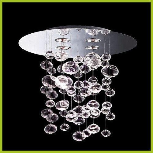 Height 60cm - Murano Due Bubble Glass Chandelier Pendant Lamp Suspension Light   eBay