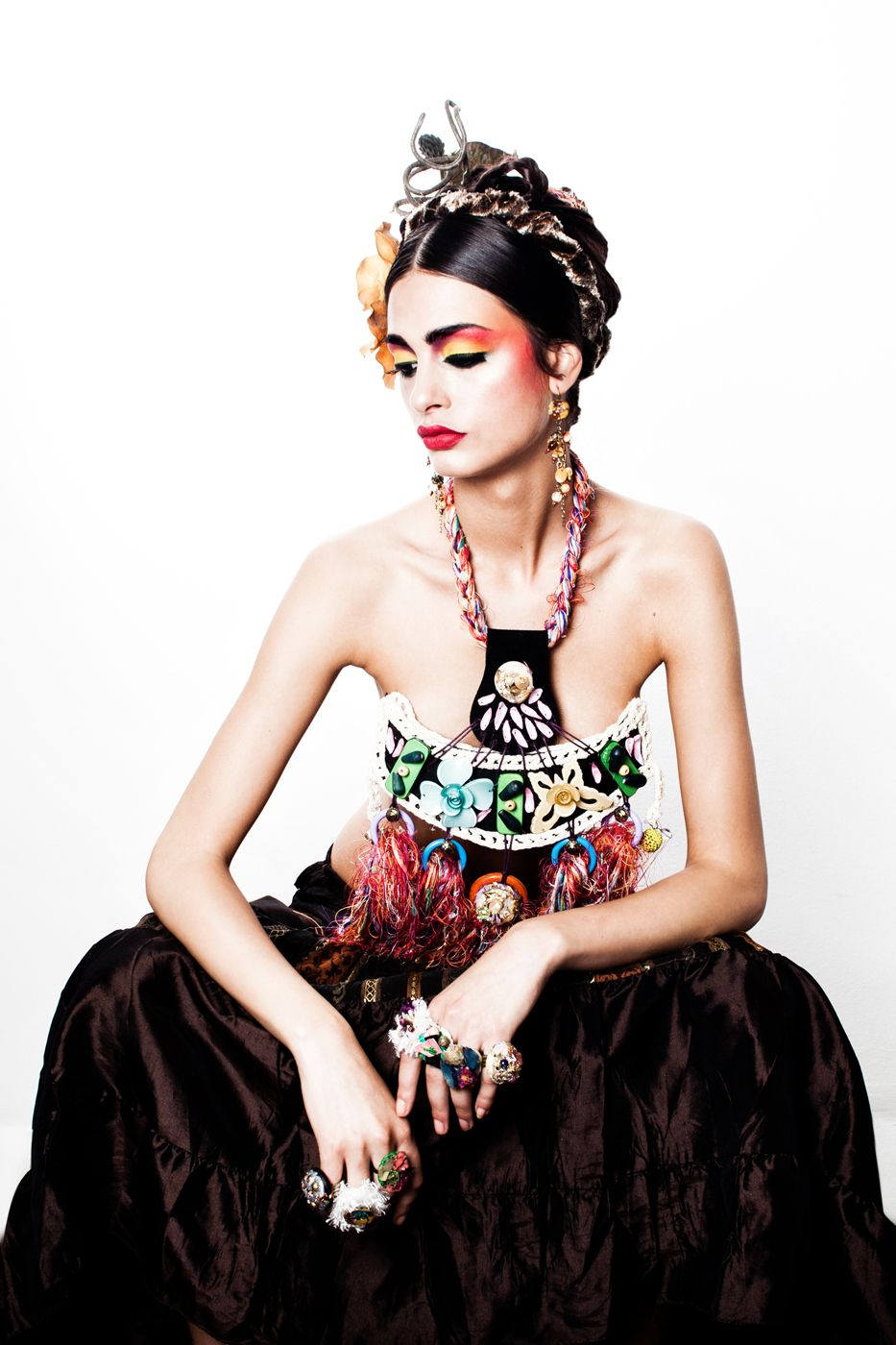Image result for frida kahlo look (With images) Fashion