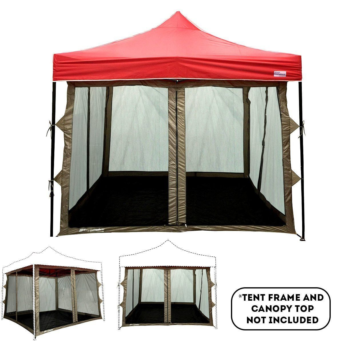 Inner Pop Up Tent Zippered Entry Full Mesh Walls Pvc Floor Ceiling Screen Tent Pvc Flooring Tent Room