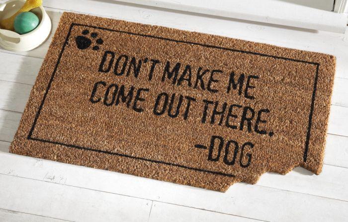 The Perfect Office 122 Dog Door Mat Door Mat Dog Door