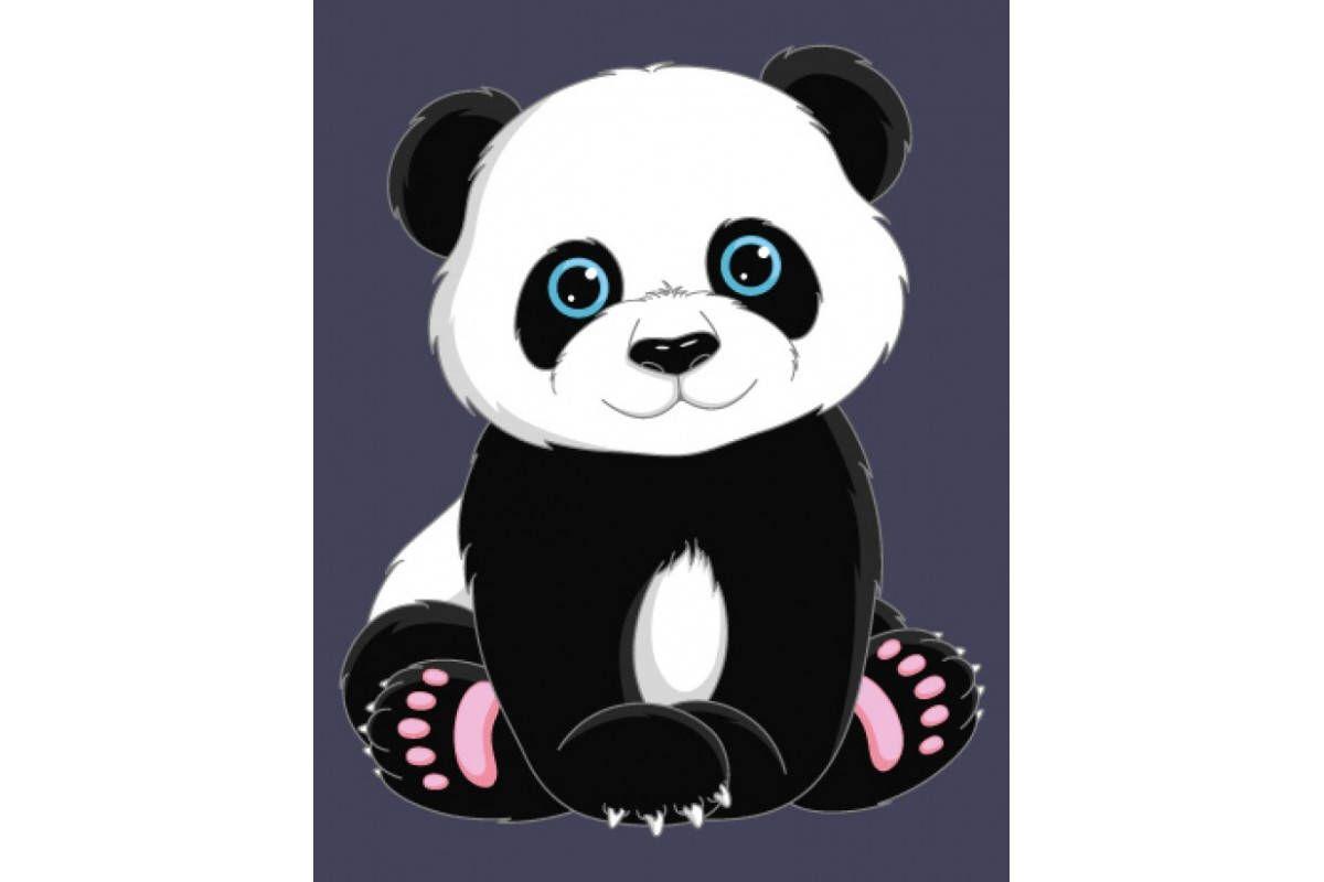 Paint By Numbers Kit Panda Size 16 5 X 13 Cm Etsy Cute Panda Cartoon Cute Panda Panda Art