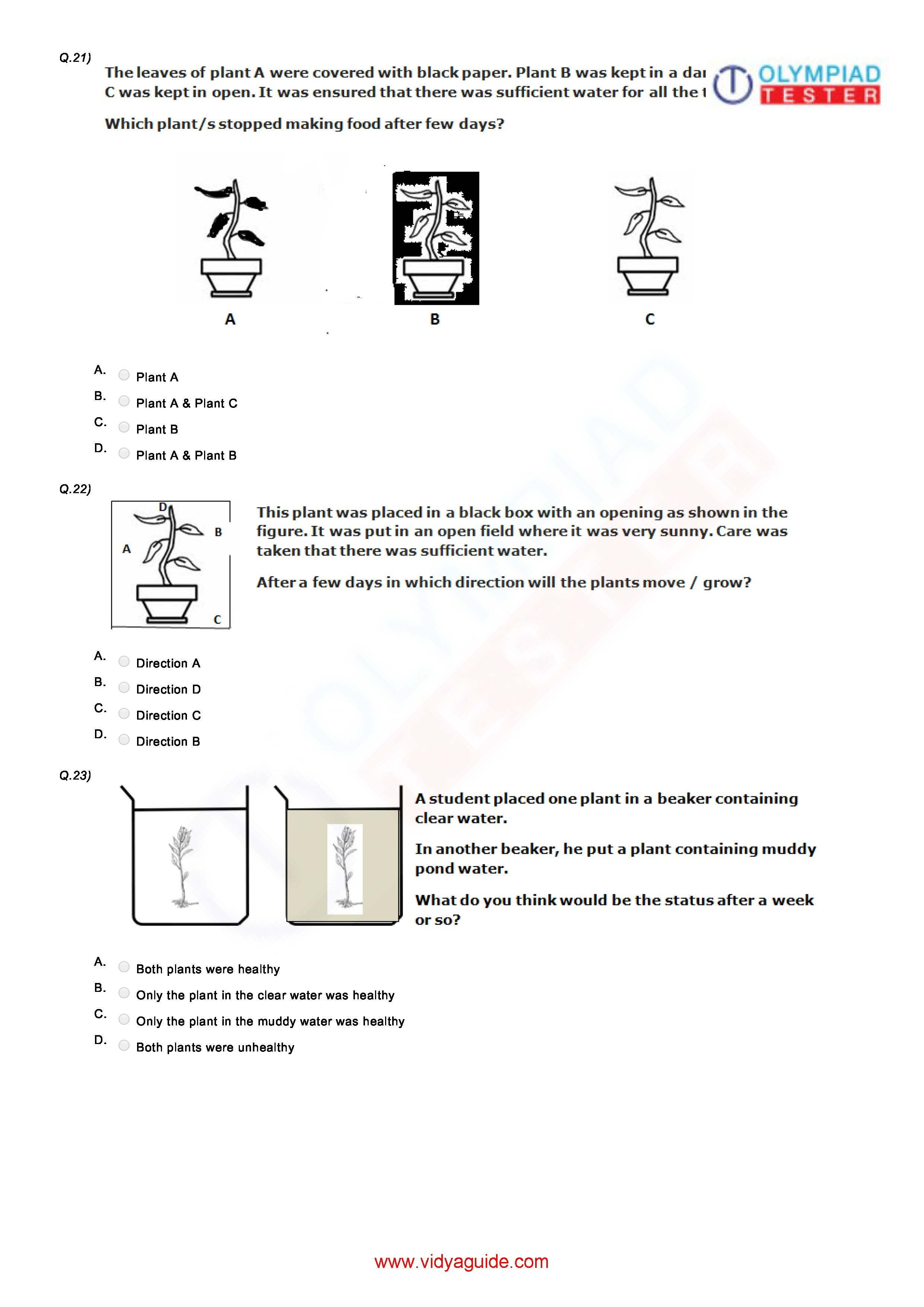 Download Free Grade 3 Science Printable Worksheets Or Take These Tests Online At Vidyaguide Exam Preparation Exam Printable Worksheets