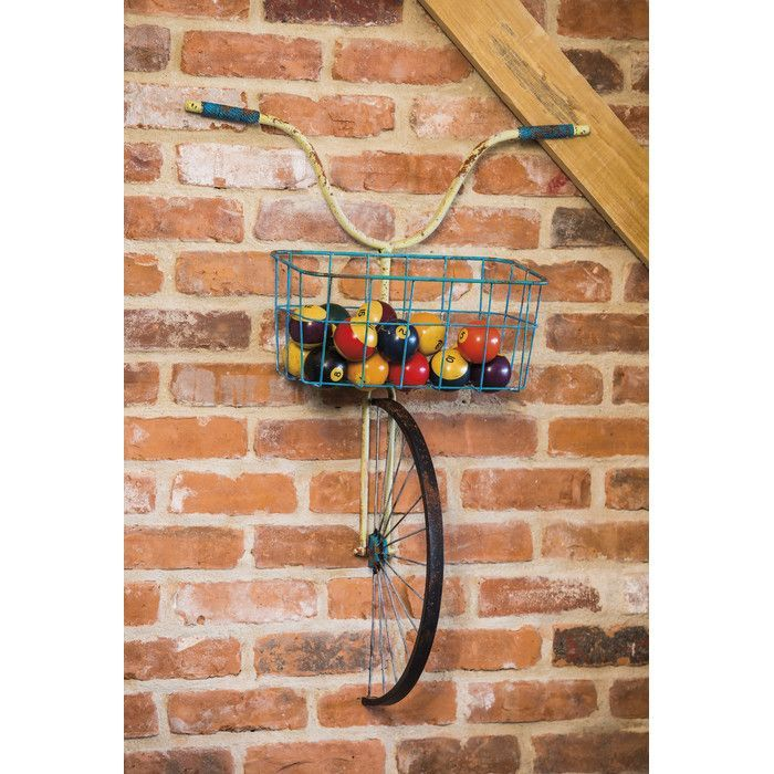 front basket metal bicycle and planter wall decor is part of Home decor - Front Basket Metal Bicycle and Planter Wall Decor CoolWall art