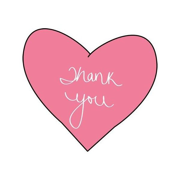 Pink Thank You Heart Clip Art ❤ liked on Polyvore featuring home, home decor, pink home decor and heart home decor