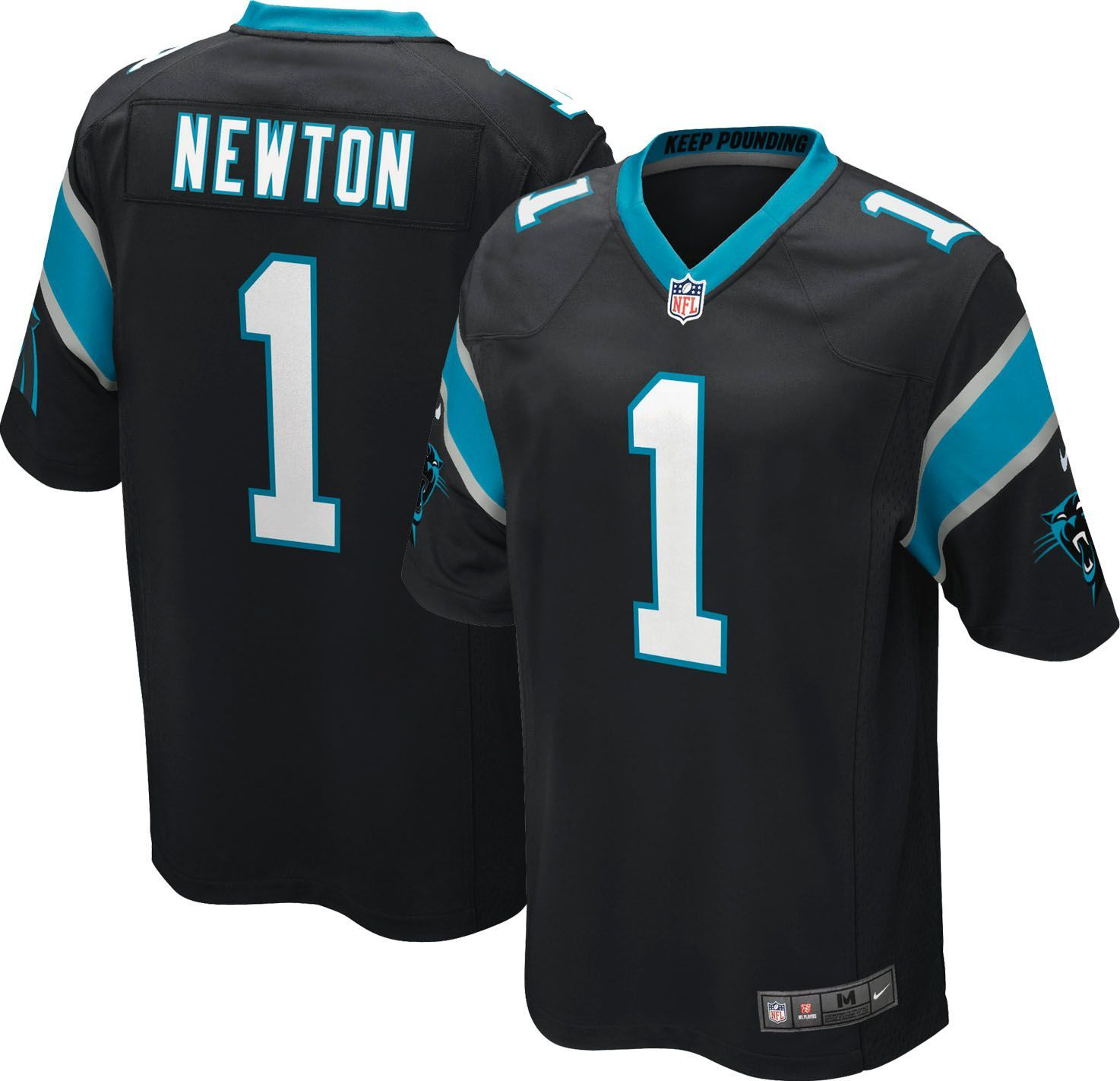 cc1635065 Nike Youth Home Game Jersey Carolina Panthers Cam Newton  1 ...
