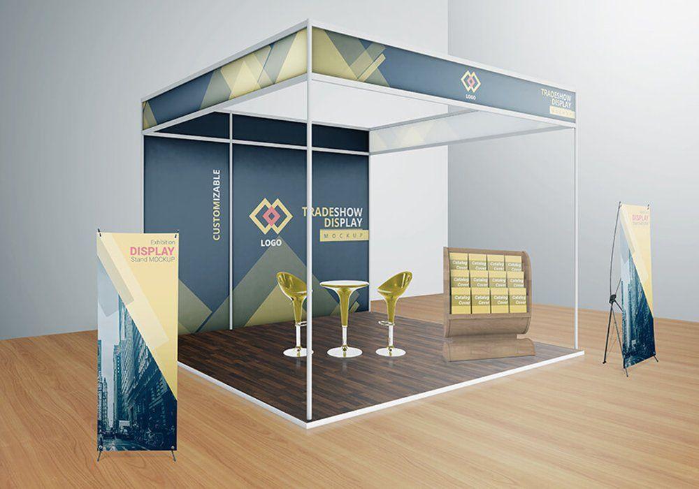 Various Trade Show Exhibition Mockup Trade Show Booth Design Exhibition Booth Design Booth Design