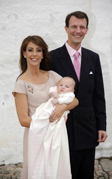 Prince Joachim of Denmark, Princess Marie and little Princess Athena Marguerite Françoise Marie
