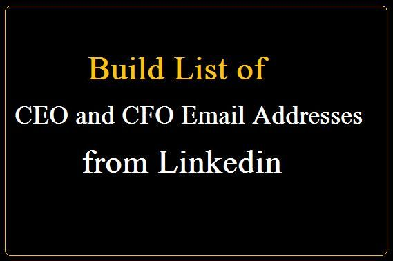 CEO and CFO Email Addresses - Build List of CEO and CFO Email
