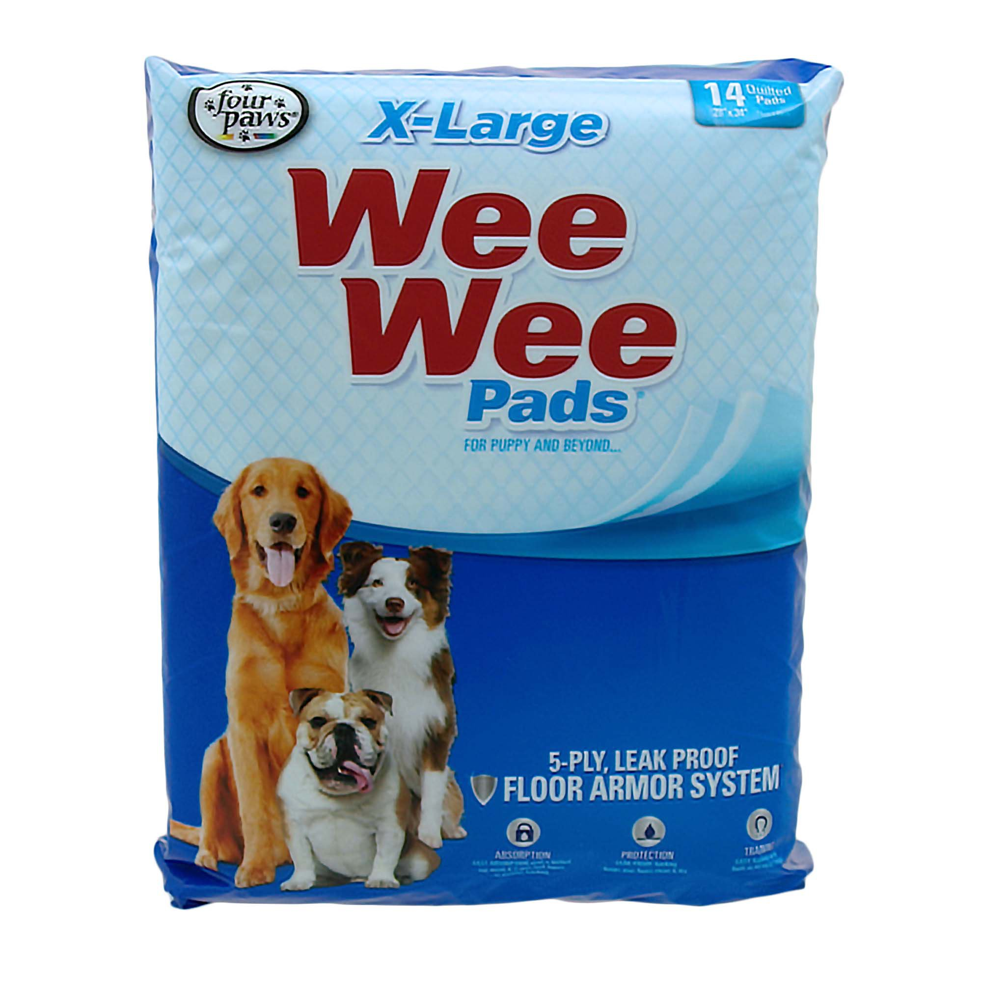 Wee Wee Xl Potty Pads 14 Count X Large Puppy Pads Dog Pads
