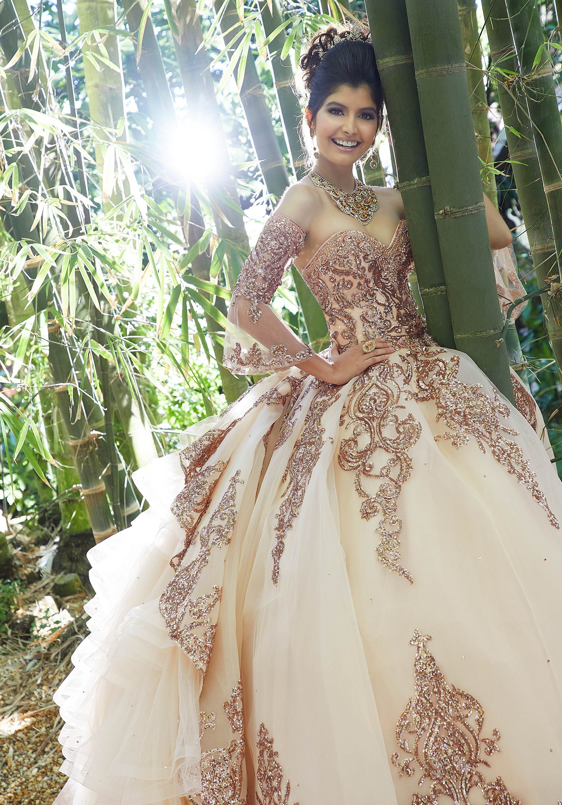 Rose Gold Quinceanera Dress By Morilee Morilee Style 89255 Quinceanera Dresses Gold Rose Gold Quinceanera Dresses Quinceanera Dresses