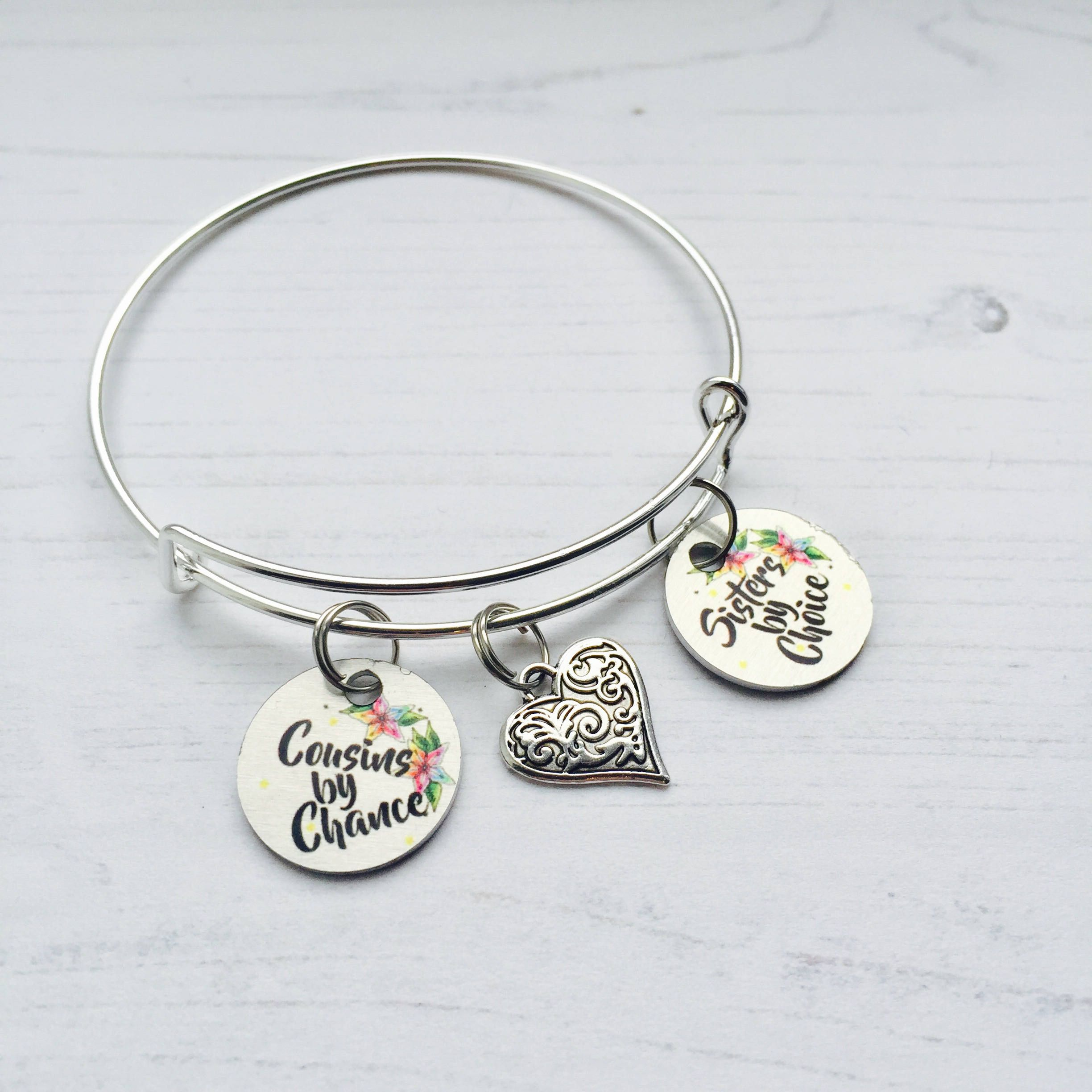 Cousin Gift Bracelet Cousins By Chance Sisters Choice Jewellery