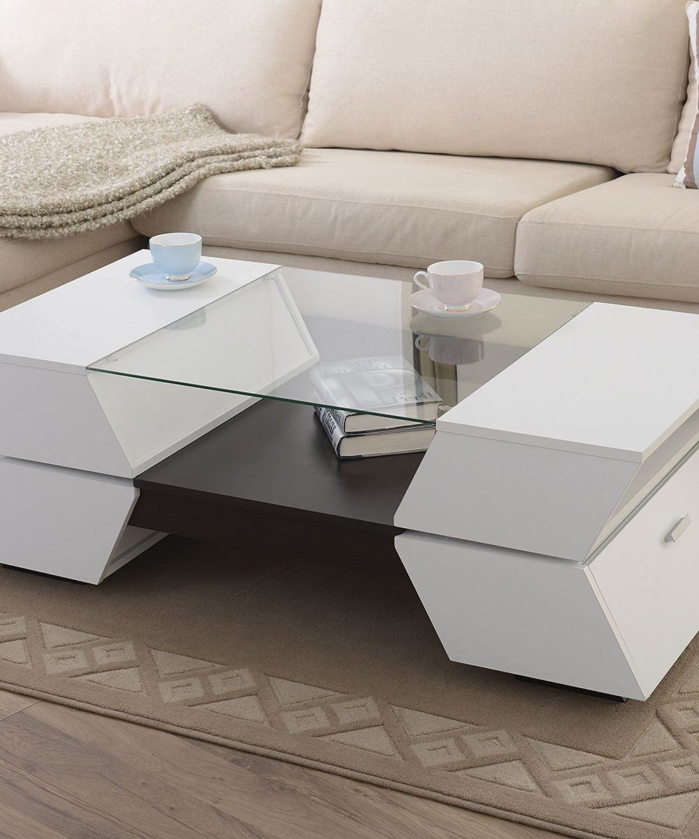 Incredible White Zandryn Modern Coffee Table Chill Here With Us Short Links Chair Design For Home Short Linksinfo
