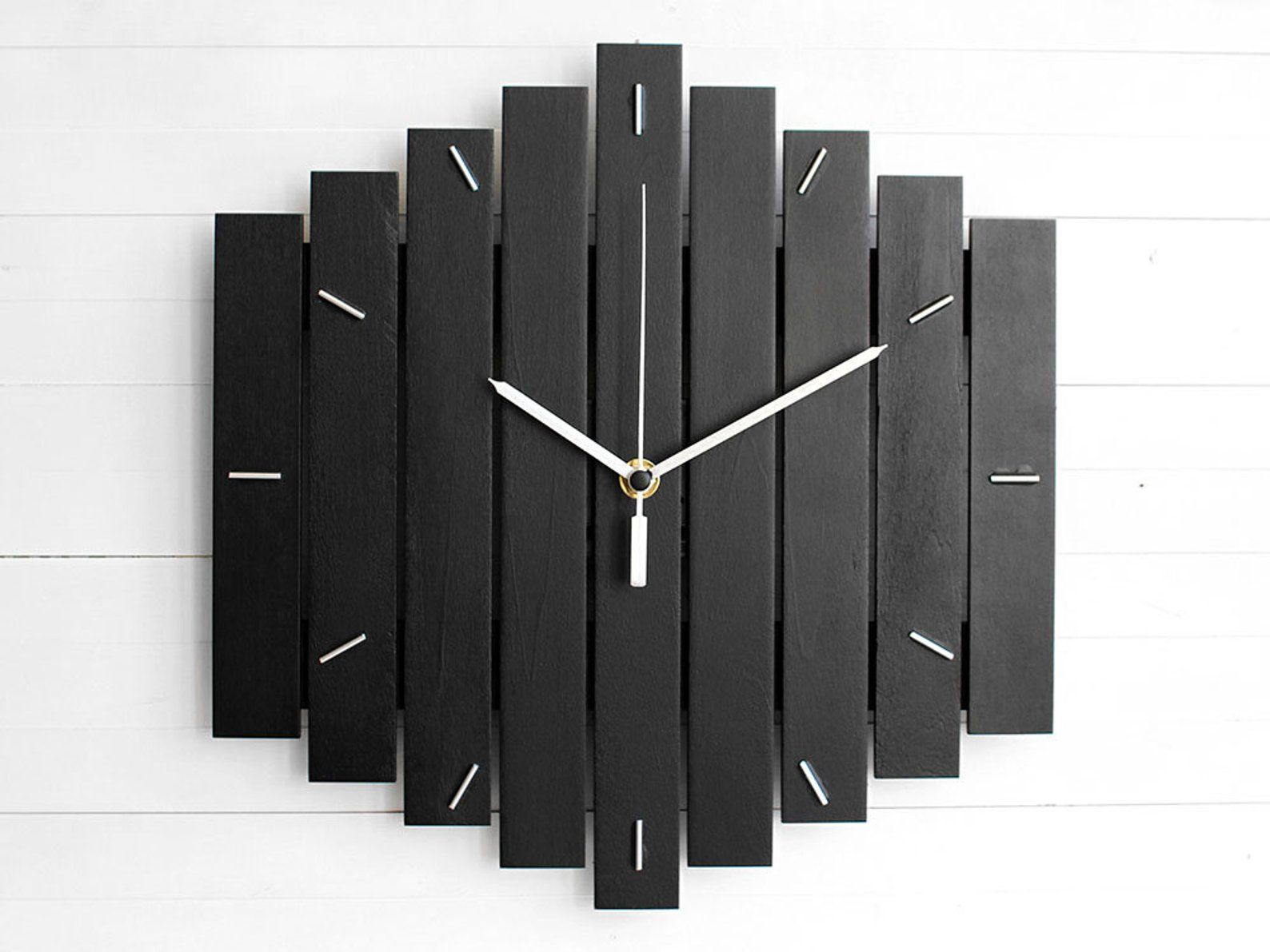 Component Wooden Wall Clock 12 The Romb Industrial Etsy Wall Clock Clock Wall Clock Wooden