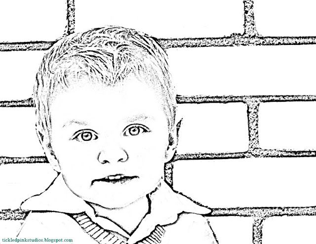photoshop can turn your own pic into a coloring page for your kids