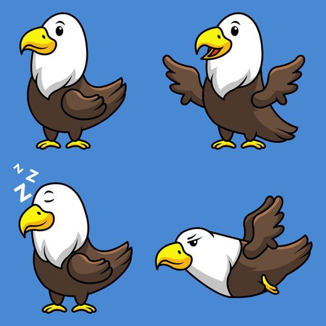 Calvo Aguila Pajaro Presa Dibujos Animados Mascota Lindo Figura Blanco Julio Vector Cuarto Patriotismo Independencia Libertad F In 2021 Eagle Cartoon Cartoon Character