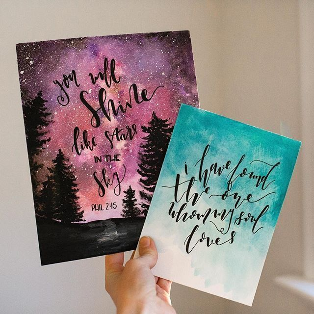 Calligraphy Hand Lettering Art Watercolor Lettering Calligraphy Art Quotes