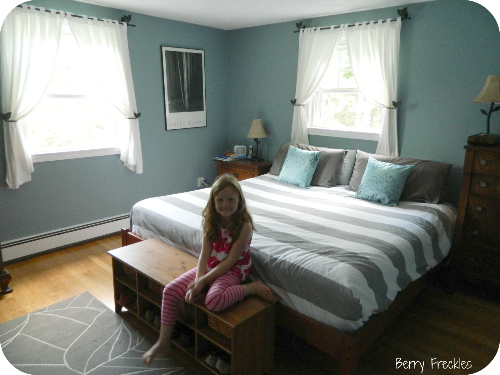cottage bedroom paint colors bm jamestown blue facing rooms 15026
