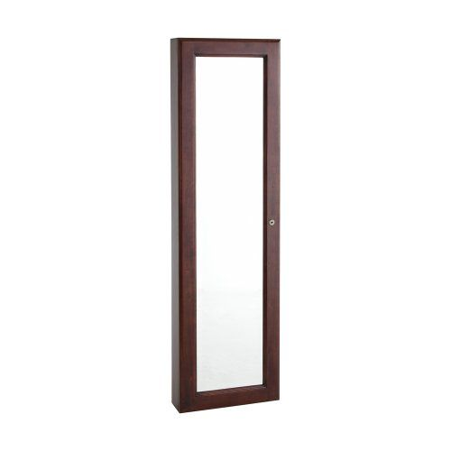 Sei Wall Mount Jewelry Mirror Cherry Storage Armoire Faced With A Beveled This Is