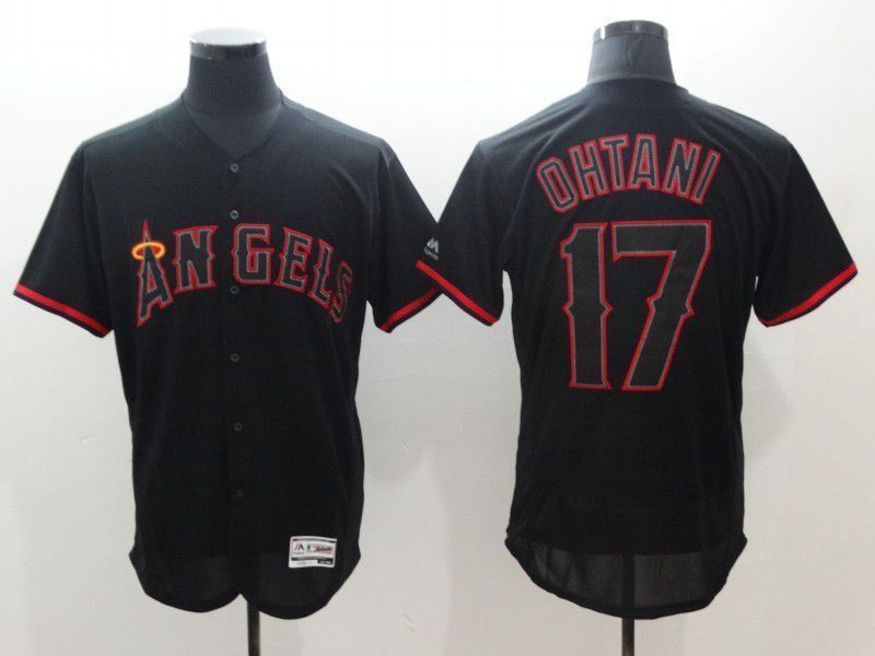 check out 6ba68 565f6 Men Los Angeles Angels 17 Ohtani Black Elite MLB Jerseys ...