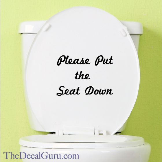 Please Keep The Seat Down Toilet Decal Toilet
