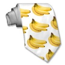 Banana tie. Can I have this please? It would go great with my banana bikini.