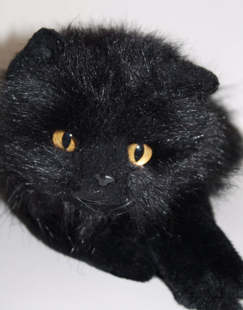 From Ty Classic Is The Pretty Onyx Kitty Persian Cat Fluffly Long