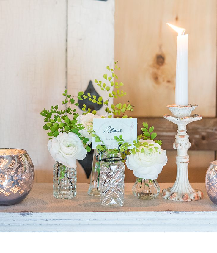 Vintage Inspired Pressed Glass Vases With Stationery Holders