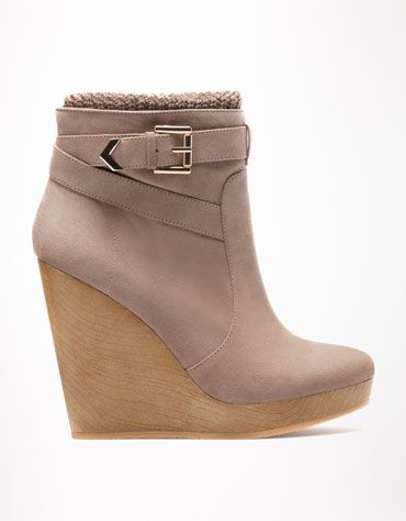 24c911c33ec Bershka Turkey - Bershka buckle detail wedges - 130