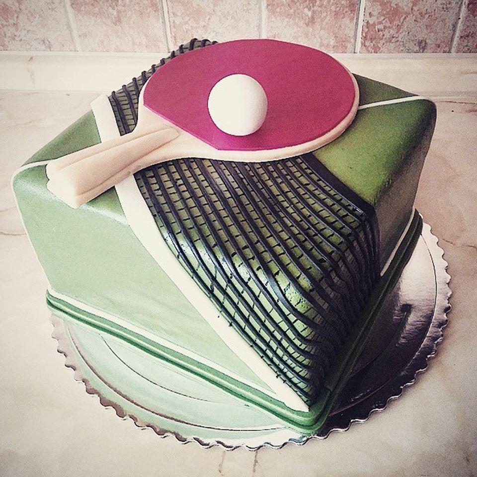 Table Tennis Birthday Cake Tennis Cake Tennis Birthday Table Tennis