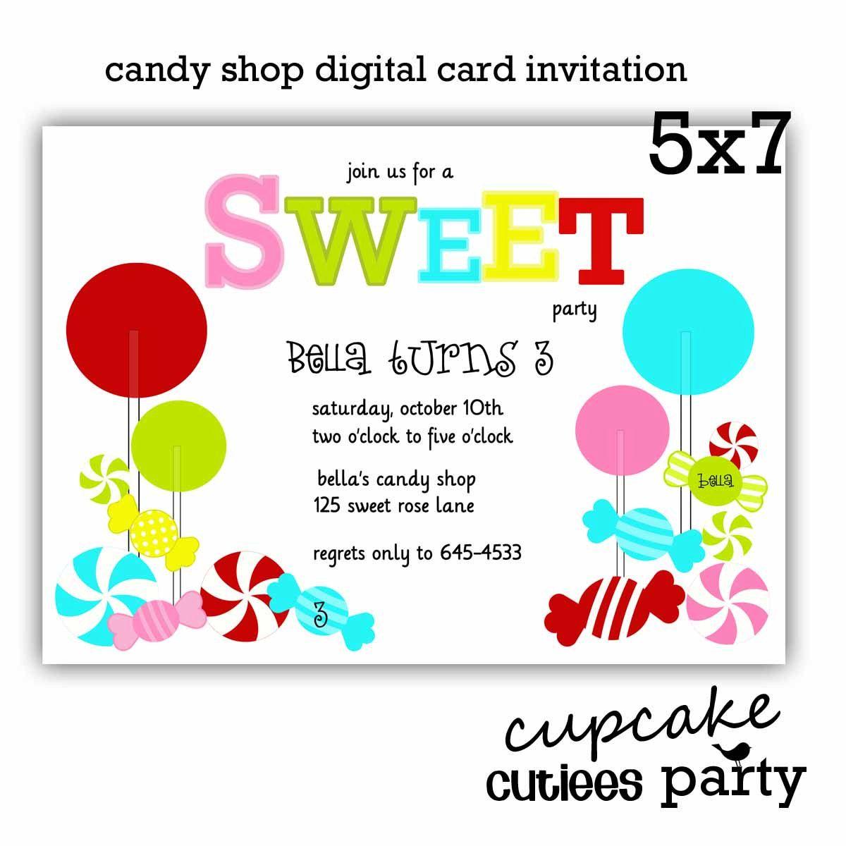 Candyland party invitation | Stuff to Buy | Pinterest | Candyland ...