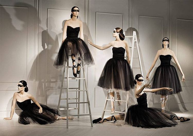 """ATREZZO MANNEQUINS, Barcelona, Spain, """"Yes, Mandy, ballet enables you to find yourself and lose yourself at the same time"""", (Ballerina version of our Women collection), pinned by Ton van der Veer"""