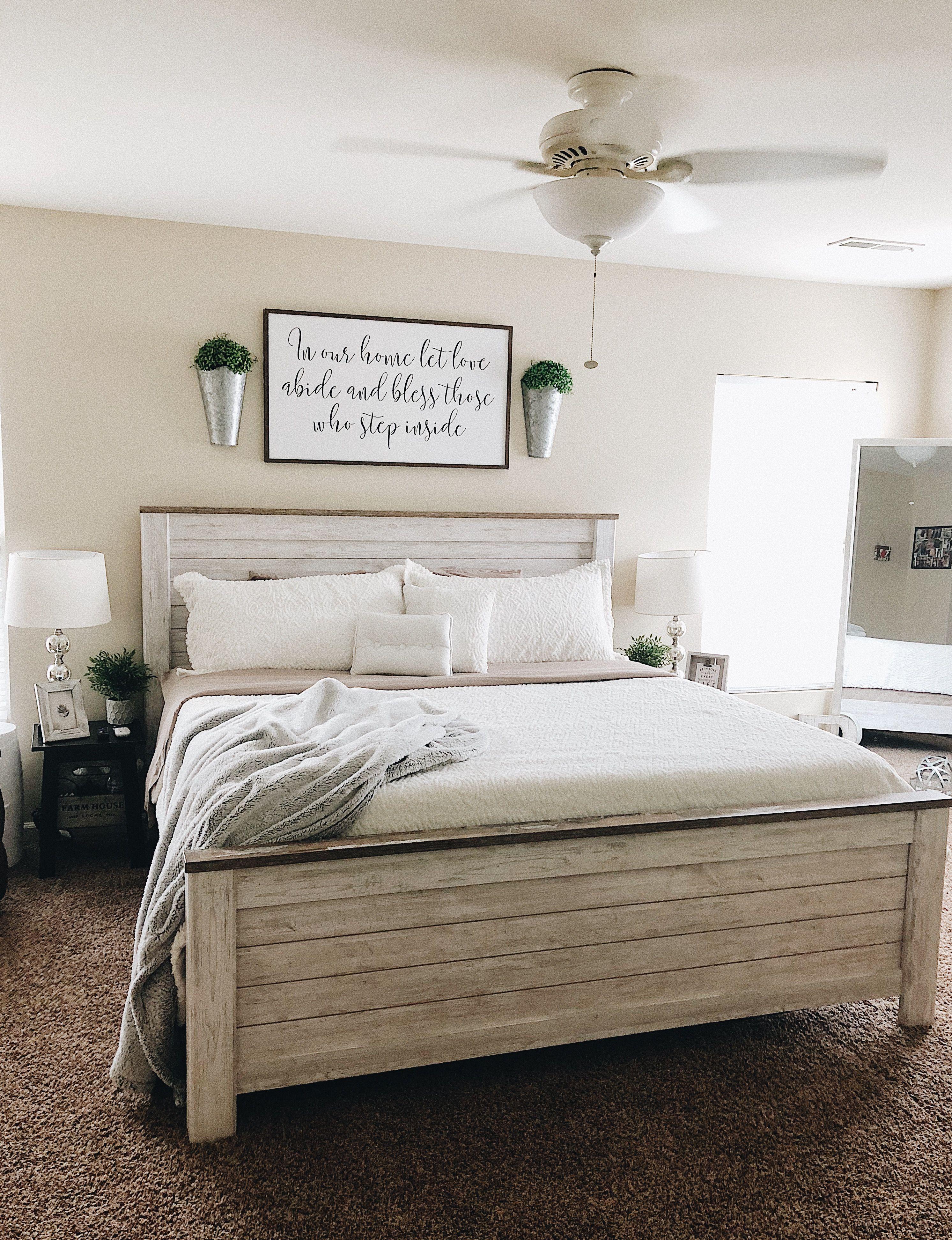 Modern Farmhouse bedroom makeover.🌿 farmhouse