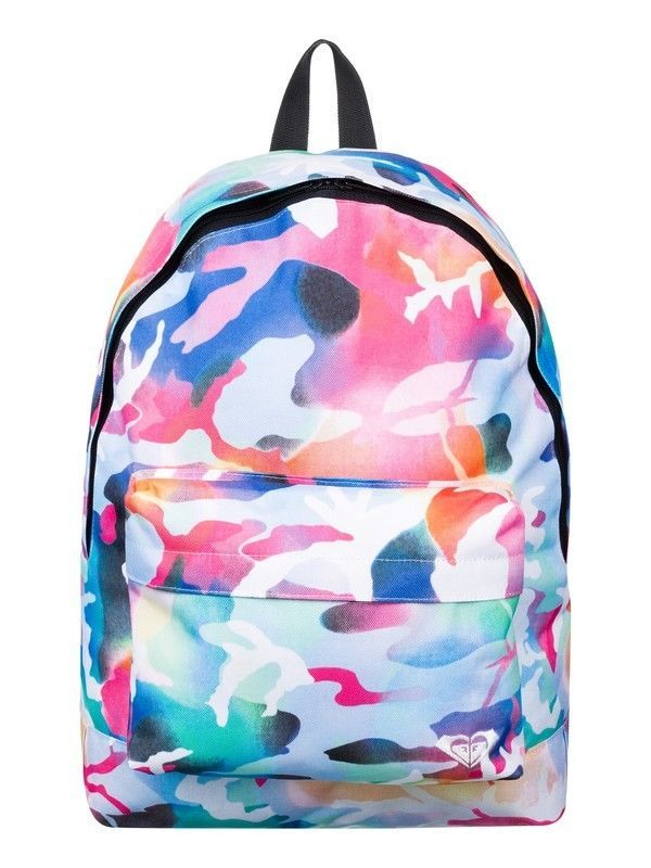 Girls School Bags Roxy Backpack Pink Camo Multicolour A4 Juniors £23 at Purple Fairy Princess