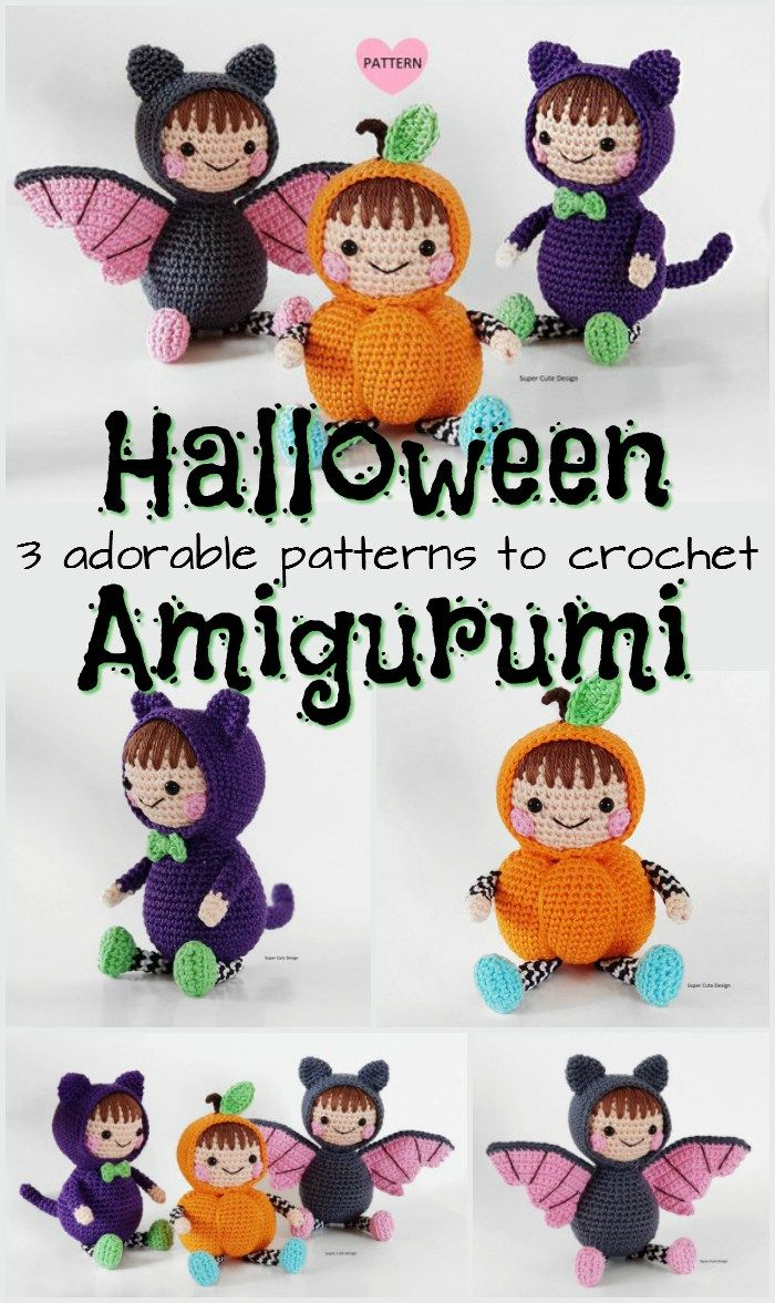 Adorable Halloween Amigurumi | SEASONS | Pinterest | Ganchillo ...