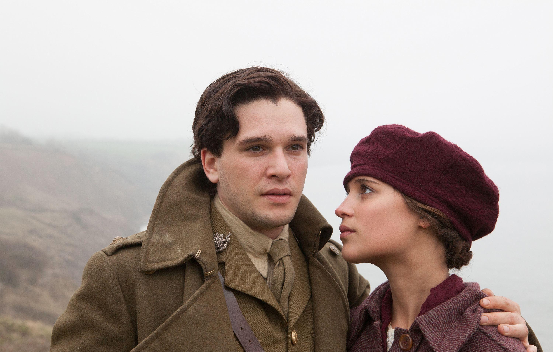 Kit Harington (Roland Leighton) & Alicia Vikander (Vera Brittain) - Testament of Youth (2015) directed by James Kent