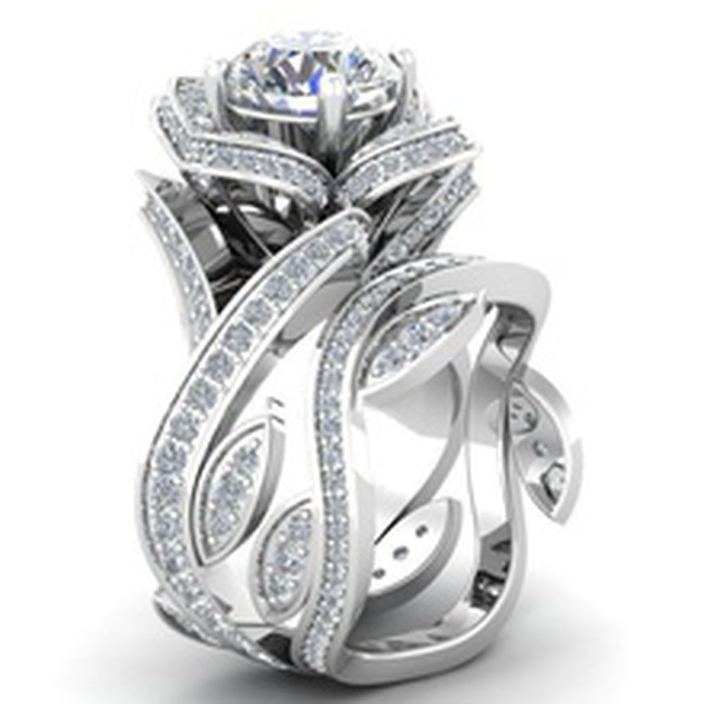 925 Sterling Silver 4.50 Carat Round Shape Solitaire Wedding /& Engagement Ring