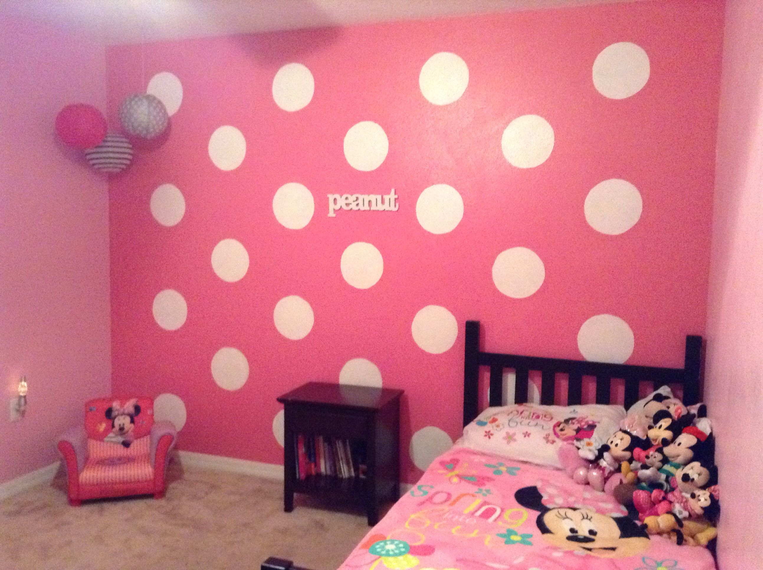 It could also be a really cute Minnie Mouse room for a