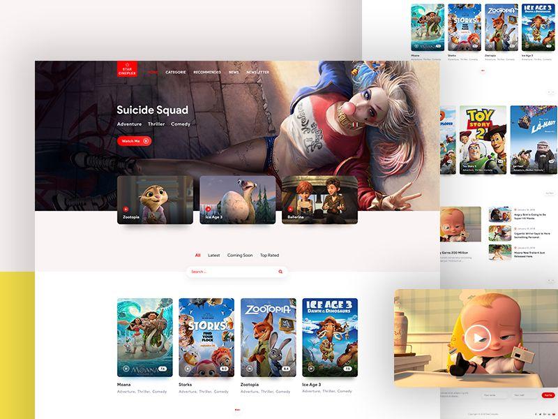 Movie Review Website Website Design Inspiration Website Design Movie Website