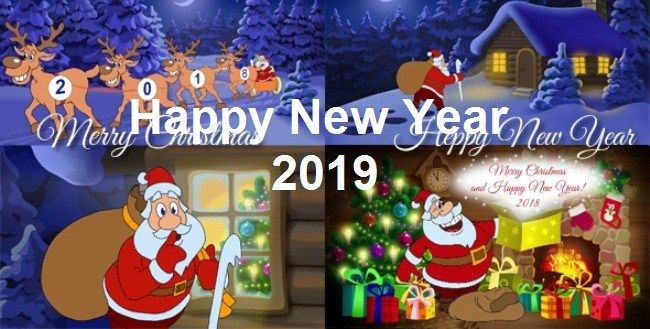happy new year greeting card 2019 with name | New year ...