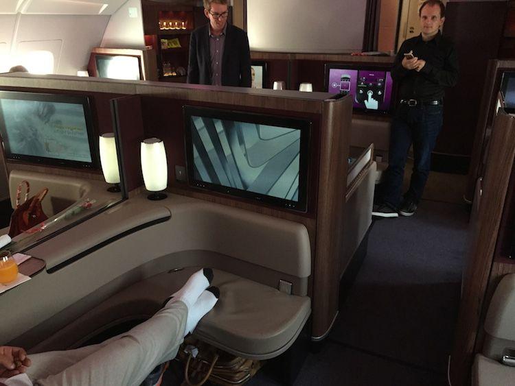 Qatar airways a380 business and first class photos
