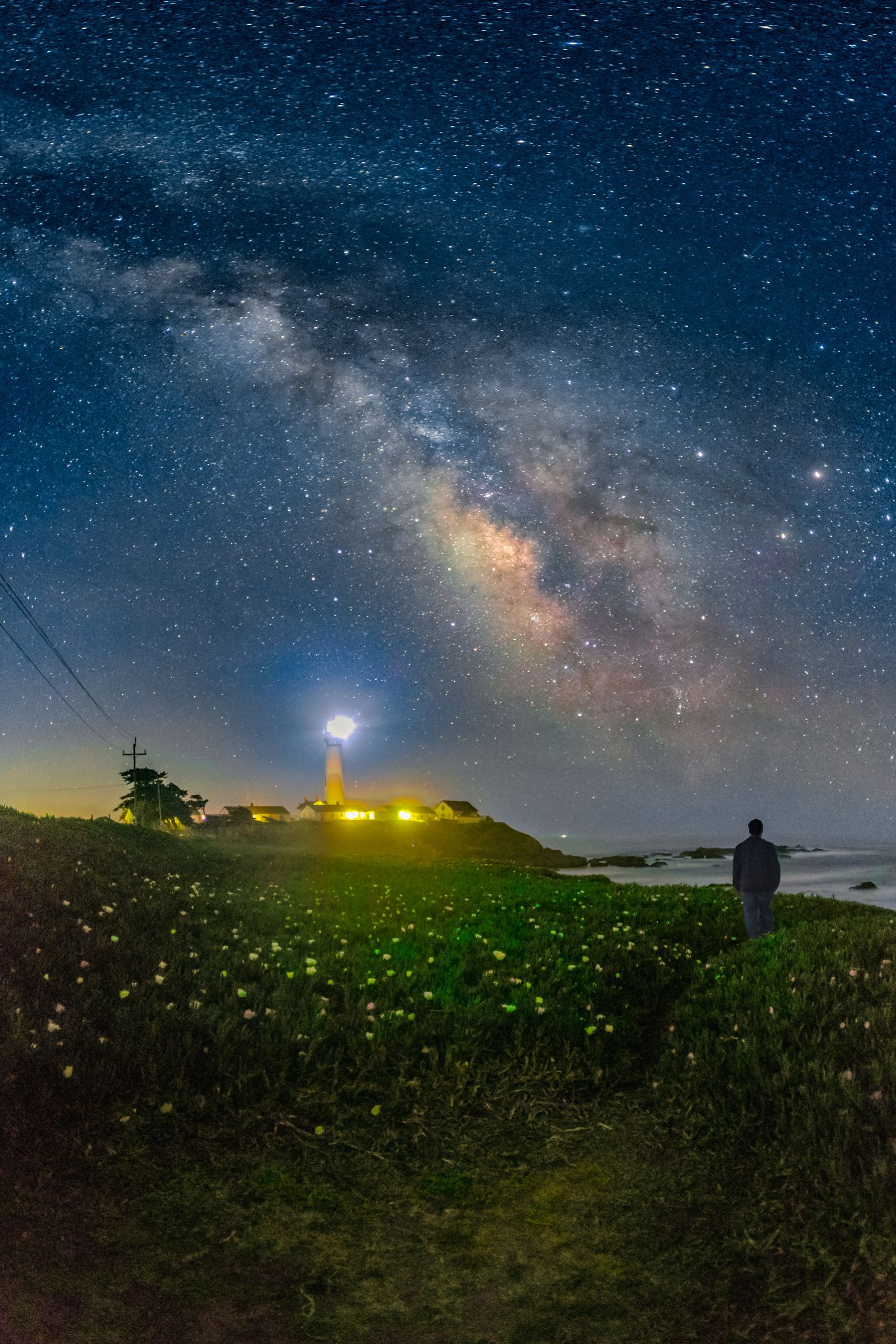 One Fine Spring Night Beautiful Night Sky Lighthouses Photography Nature Scenes