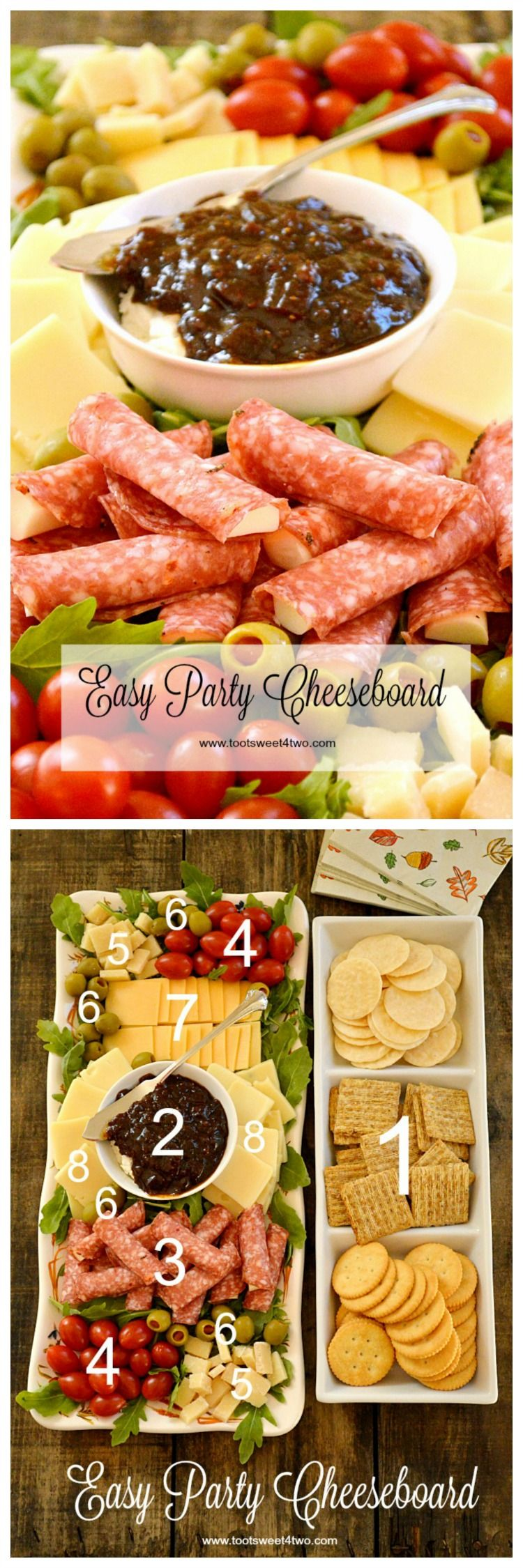 easy party cheeseboard rezept food pinterest vorspeise fingerfood und essen. Black Bedroom Furniture Sets. Home Design Ideas