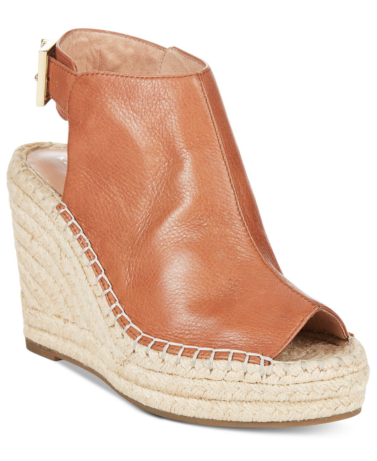 4bdf1453658 Kenneth Cole New York Women's Olivia Espadrille Peep-Toe Wedges ...