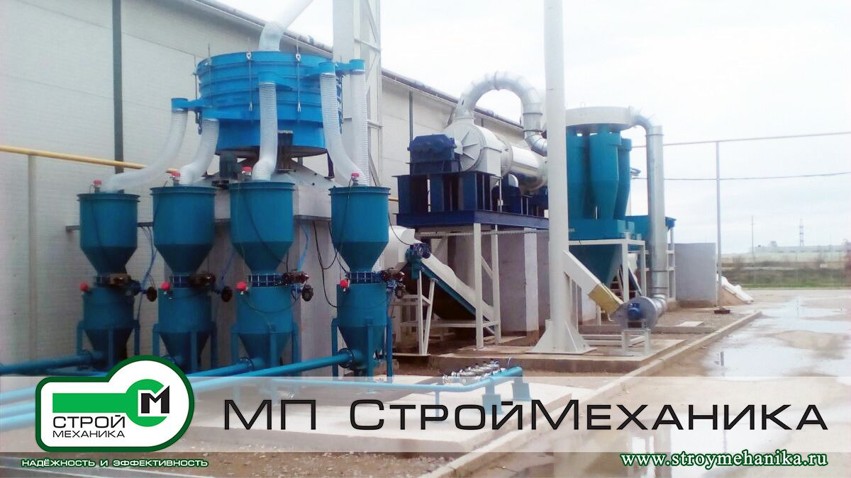 """A plant of dry construction mixes SSS TURBOMIX production MP #StroyMehanika on the production area of the company LLP """"SICA KAZAKHSTAN""""."""