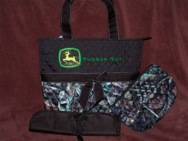 Personalized Custom Quilted 3 Pc. Browning Inspired Buck Deer Camo ... : quilted camo diaper bag - Adamdwight.com