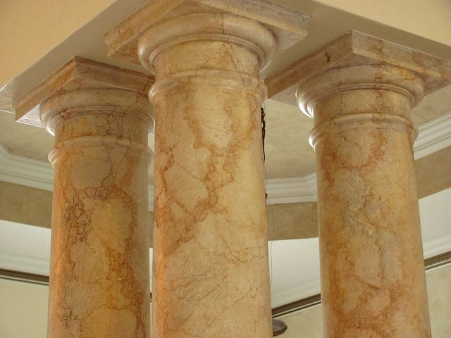 Another Faux Marble On Columns For The Home Faux Walls