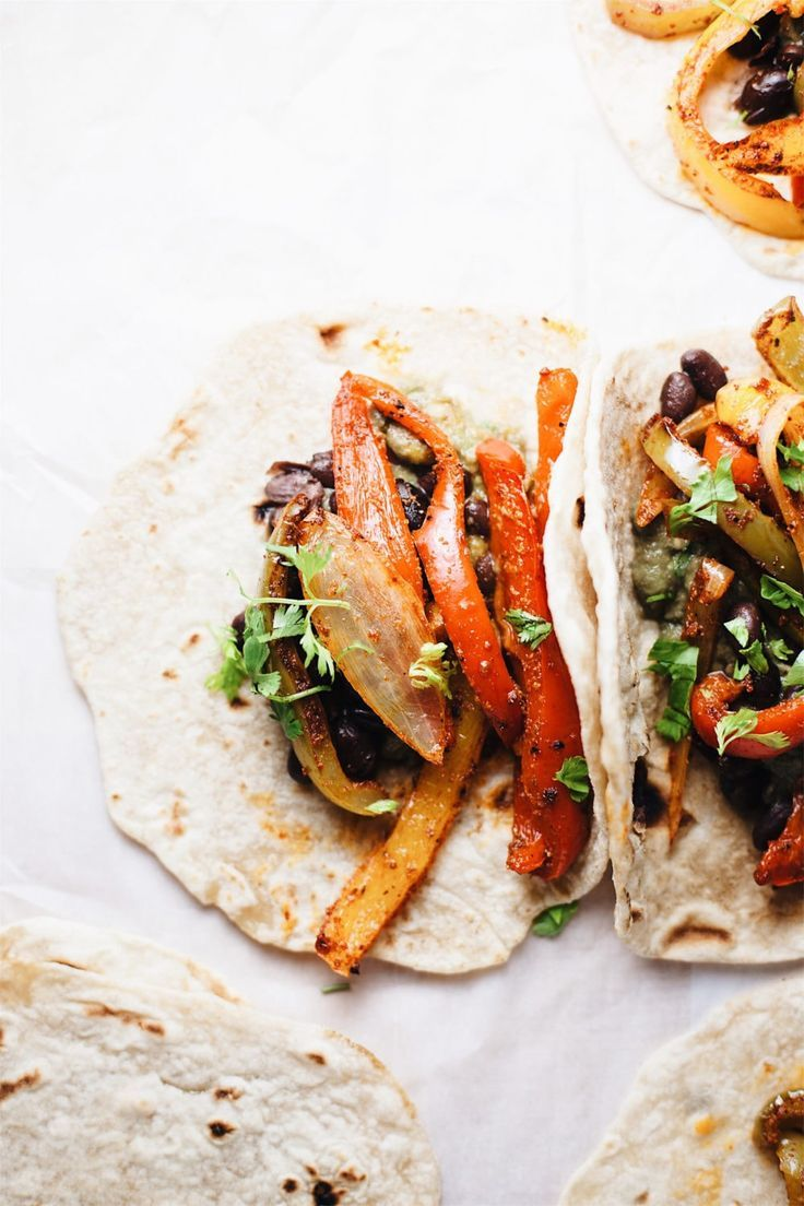 The BEST EVER Vegetarian Fajitas images