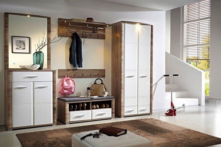 diseño de recibidor con conjunto de muebles
