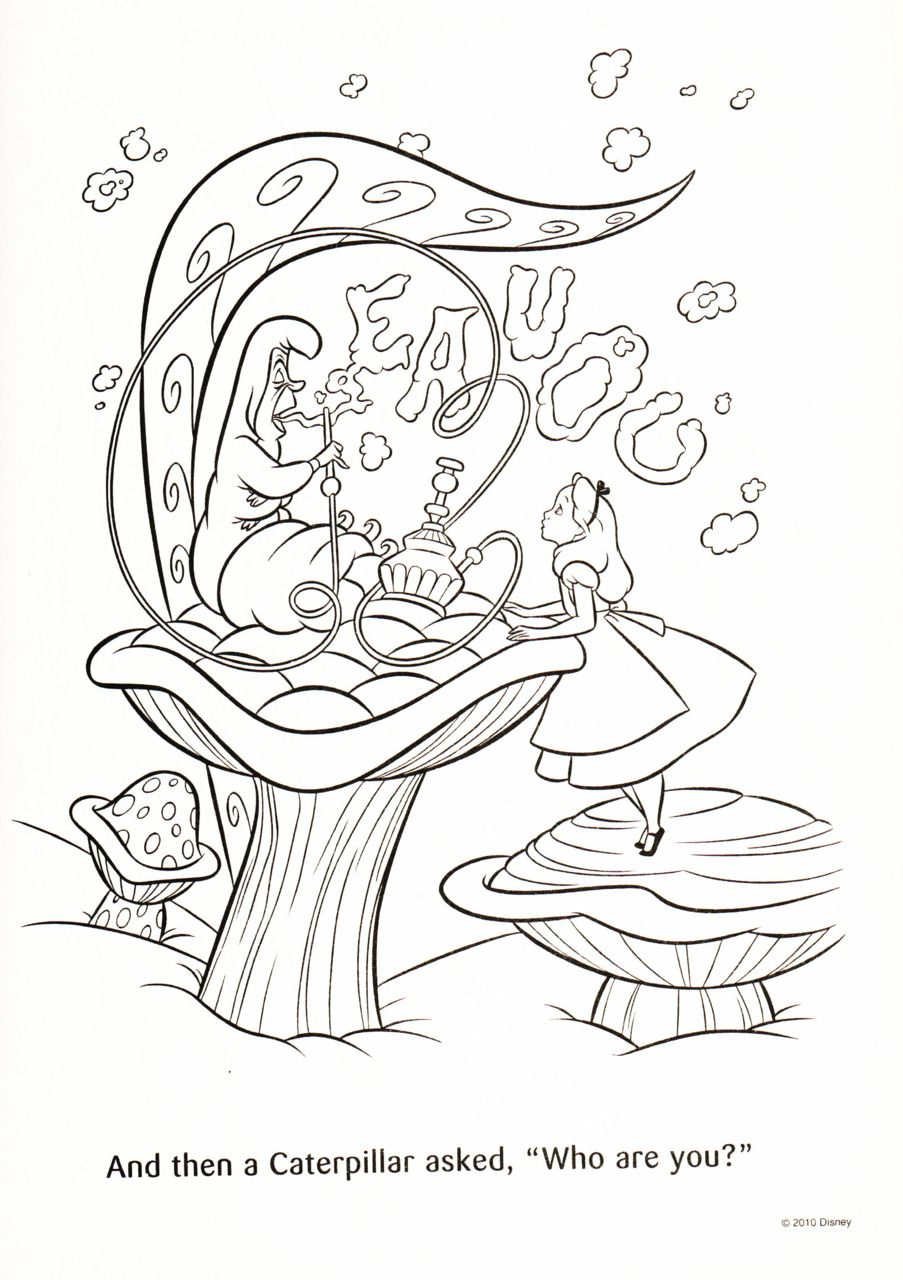 Alice In Wonderland Coloring Book Disney